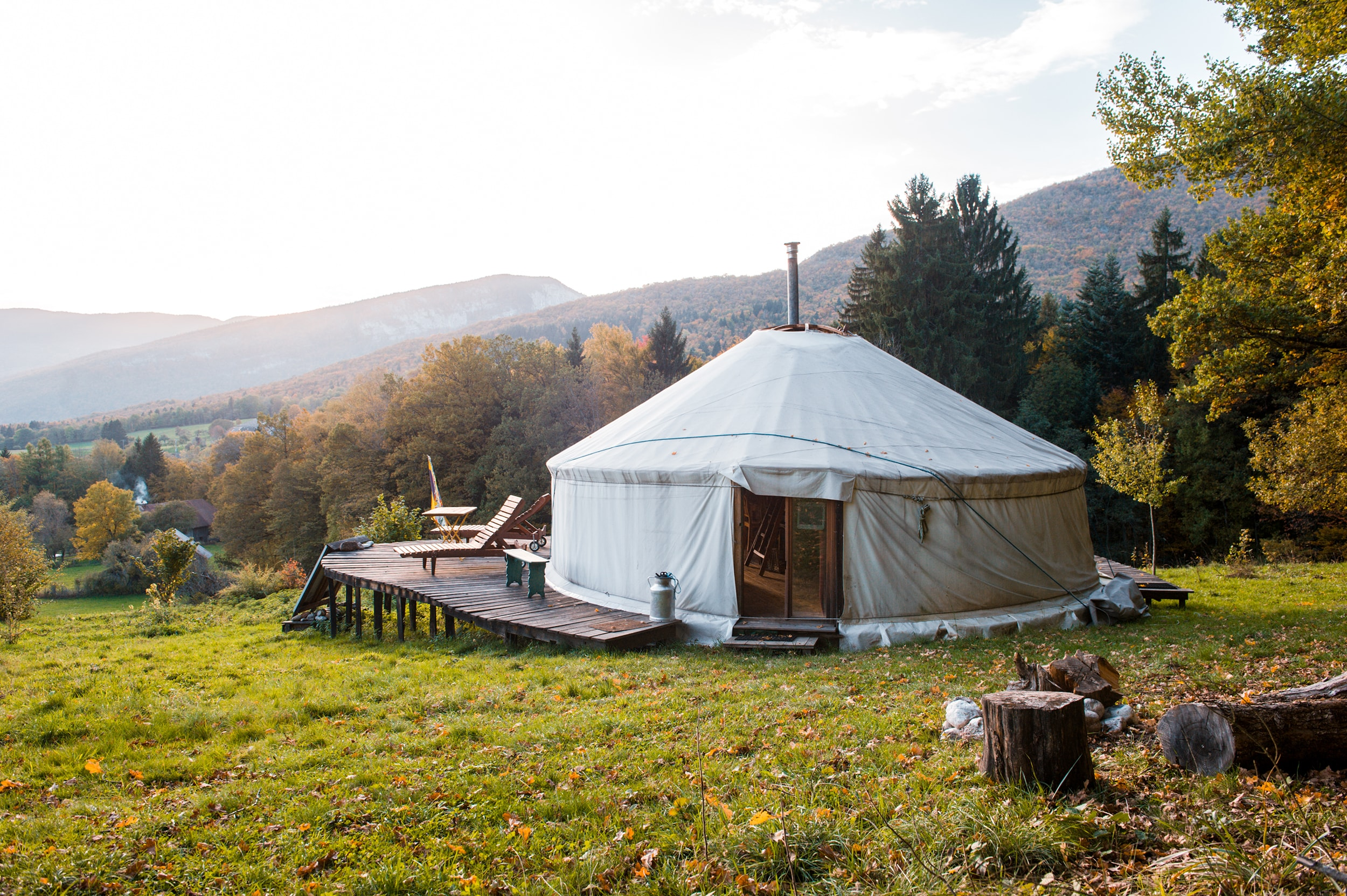 A Quiet Yurt in Savoie-Bauges, Bellecombe-en-Bauges, Rhone-Alpes, France