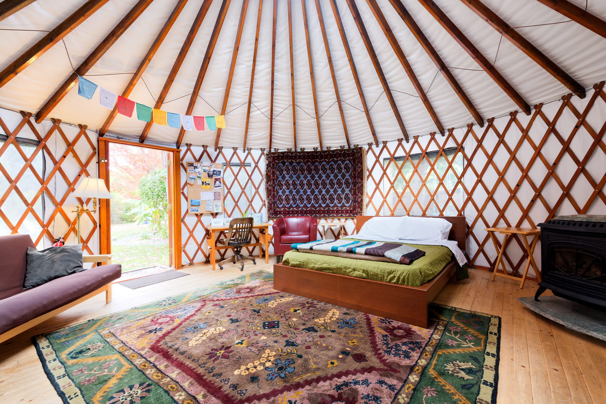 The 36th Street Urban Yurt, in Large Garden Oasis, Boise, ID