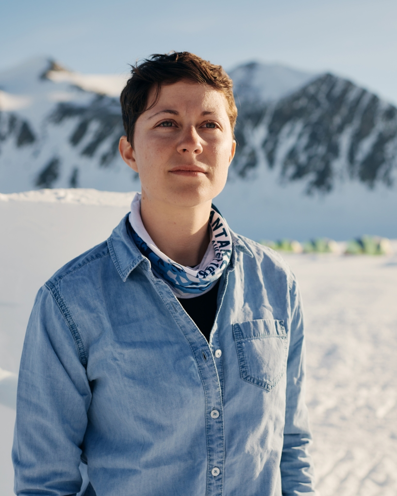Portrait of Kirstie Jones-Williams, polar researcher and host of the Antarctic Sabbatical expedition