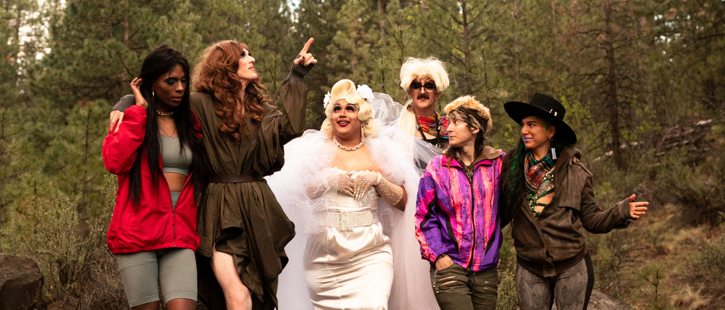 Photo of Pattie Gonia and friends on their nature hike experience